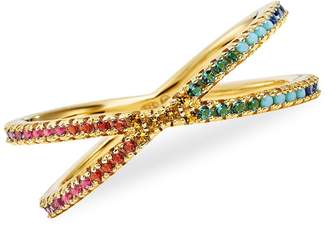 Michael Kors Rainbow Pave Nesting Ring