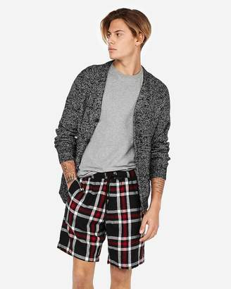 Express Exp Weekend Double Brushed Plaid Flannel Shorts
