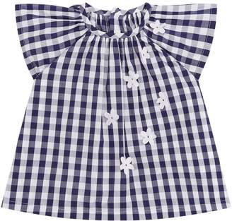 Il Gufo Gingham Floral Top