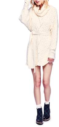 Free People Cable Knit Sweater Dress