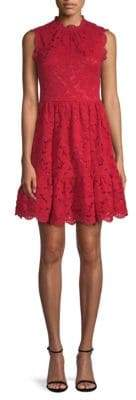 Kate Spade Lace Fit-And-Flare Dress