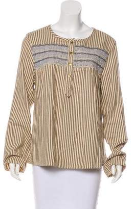 Current/Elliott Embroidered Striped Shirt