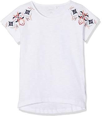 Name It Girl's Nkfkarla Ss Slim Top T-Shirt Bright White