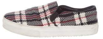 Celine Plaid Slip-On Sneakers