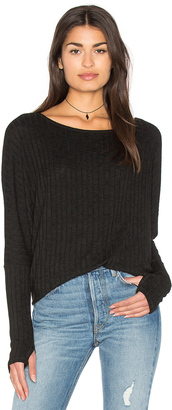 Michael Stars Boatneck Thumbhole Top $78 thestylecure.com