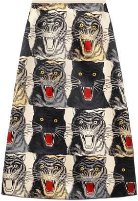 Tiger Face silk skirt $1,980 thestylecure.com
