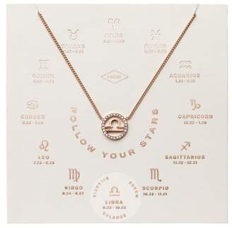 Fossil Libra Pendant Rose Gold-Tone Stainless Steel Necklace jewelry ROSE GOLD