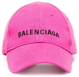 Balenciaga Pink Logo Embroidered Cap