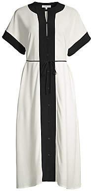 Equipment Women's Cauldine Contrast Trim Midi Dress