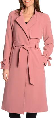Rachel Roy Luxe Crepe Trench Coat
