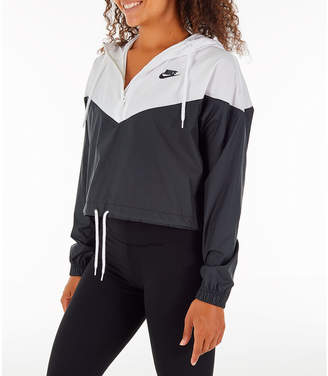 dcc134c19cfaf Nike Women's Sportswear Heritage Crop Windrunner Jacket