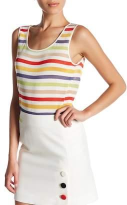 Anne Klein Striped Sweater Tank $59 thestylecure.com