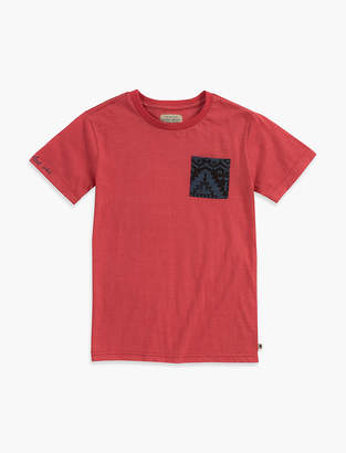 Lucky Brand SPACED DYE POCKET TEE