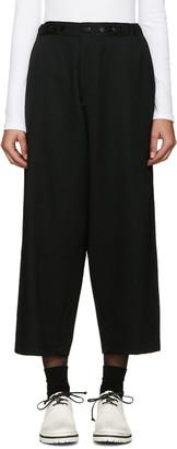 Yohji Yamamoto Black Cinch Tabs Wide-Leg Trousers $940 thestylecure.com