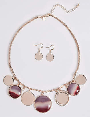 Marks and Spencer Jingle Disc Necklace & Earrings Set