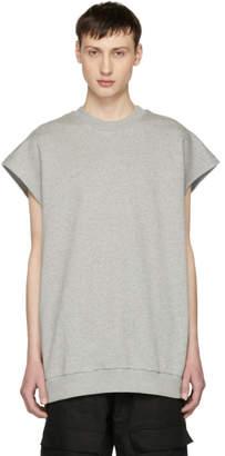 Marques Almeida Grey Sleeveless Oversized Sweatshirt