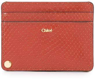 Chloé snake embossed card holder