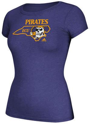 adidas Women's East Carolina Pirates Clipped State T-Shirt