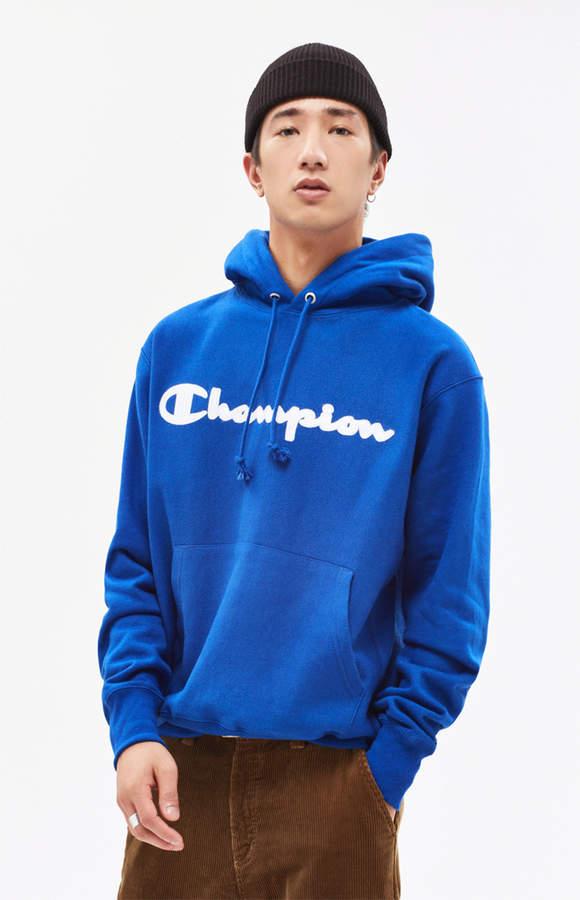 Champion Reverse Weave Patriotic Script Chain Pullover Hoodie