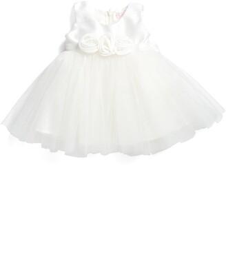 Popatu Rosette Fit & Flare Dress