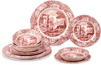 Spode 12-Piece Cranberry Italian Dinnerware Service