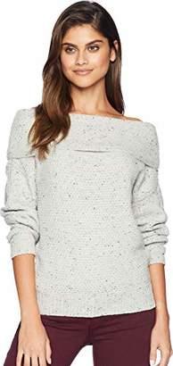 Michael Stars Women's Confetti Off Shoulder Puff Sleeve Pullover