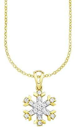 Amor Women 8 k (333) Yellow Gold White Zircon FINENECKLACEBRACELETANKLET