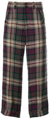 Gucci check trousers