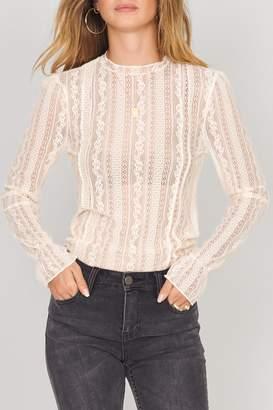 Amuse Society Cream Lace Knit