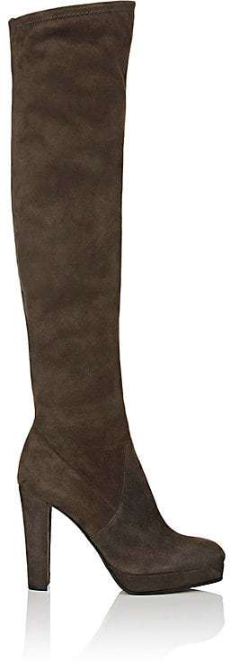 Sergio Rossi Women's Suede Platform Over-The-Knee Boots