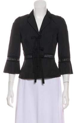 Robert Rodriguez Cropped Woven Blazer w/ Tags