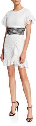 Bardot Reese Crochet Lace A-Line Dress