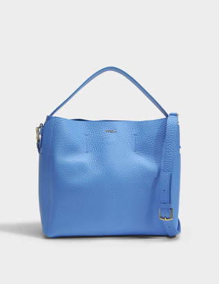 Furla Capriccio Medium Hobo Bag in Celeste Blue Calfskin