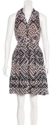 Temperley London Printed Knee-Length Dress