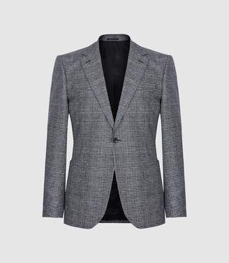 Reiss General - Checked Slim Fit Blazer in Blue Check