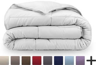 Ultrasoft Bare Home Ultra-Soft Premium 1800 Series Goose Down Alternative Comforter Set - Hypoallergenic - All Season - Plush Fiberfill, Twin Extra Long (Twin/Twin XL - White)