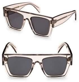 Celine Transparent Smoke Flat Square Sunglasses