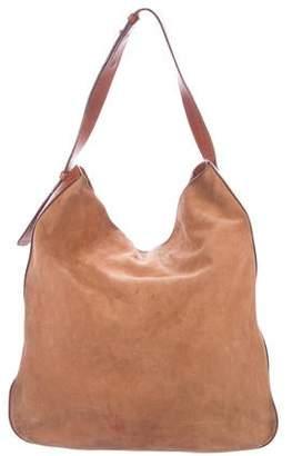 Maison Margiela Suede Leather-Trimmed Shoulder Bag