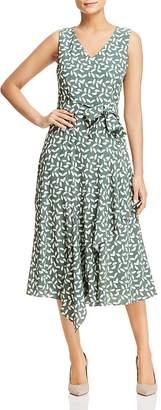 Lafayette 148 New York Telson Sleeveless Leaf-Print Dress