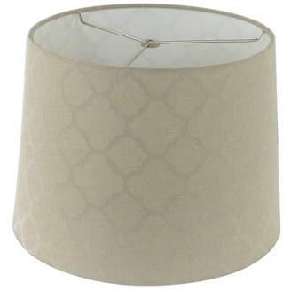 Asstd National Brand Tan Linen Shade With Ogee Pattern