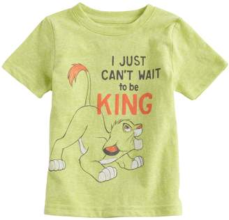 """Disneyjumping Beans Disney's The Lion King Baby Boy Simba """"Just Can't Wait To Be King"""" Graphic Tee by Jumping Beans"""