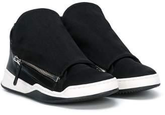 Cinzia Araia Kids double-zip sneakers