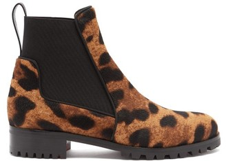 ae7151b43cff Christian Louboutin Marchacroche Leopard Print Calf Hair Ankle Boots -  Womens - Leopard