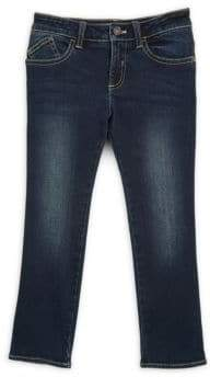 Armani Junior Little Girl's & Girl's Five-Pocket Faded Jeans