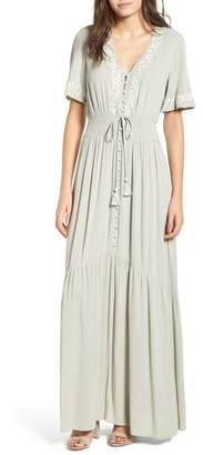 Athena Lost + Wander Embroidered Maxi Dress