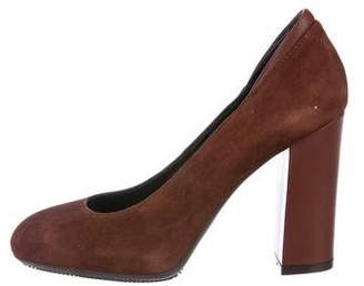 Hogan Suede Round-Toe Pumps
