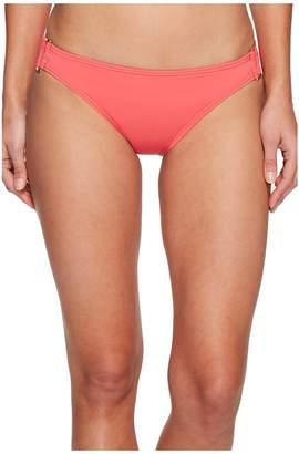 Tommy Bahama Pearl Hipster Bikini Bottom with Rectangle Hardware Women's Swimwear