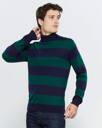 Gant Large Stripe Turtleneck Long Sleeve Sweater