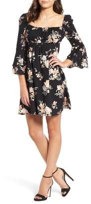 Somedays Lovin Hypnotic Blooms Empire Waist Mini Dress