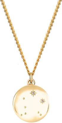 No 13 - Libra Zodiac Constellation Necklace Yellow Gold & Diamonds